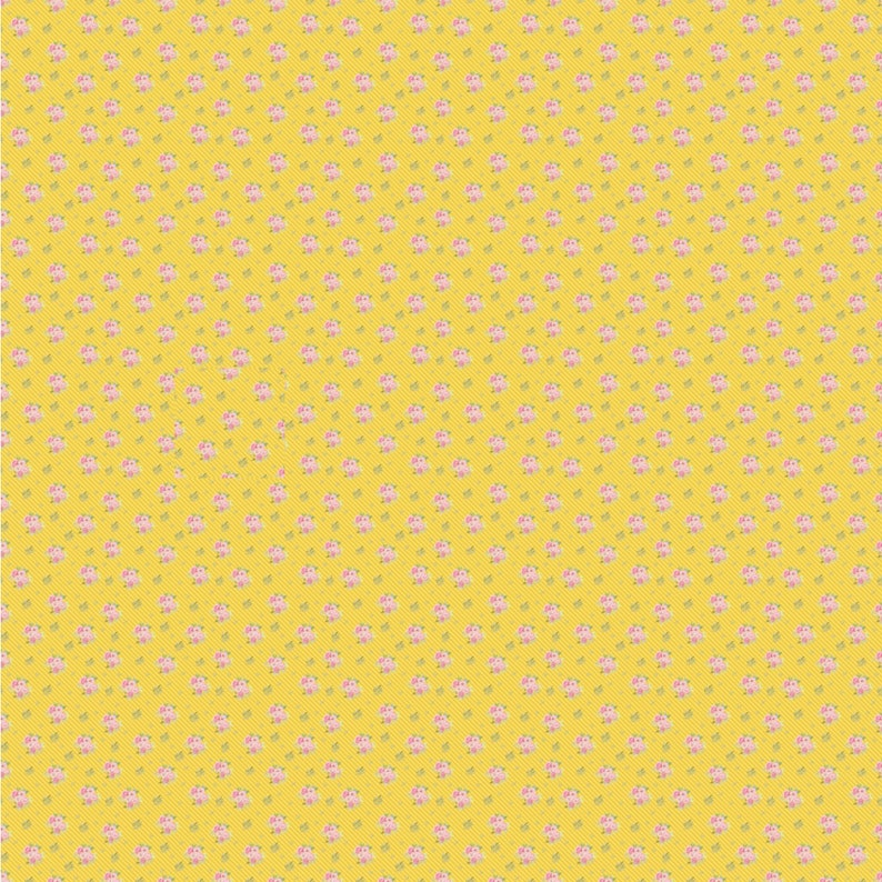 Dollhouse Miniature Wallpaper PDF Yellow  Wallpaper