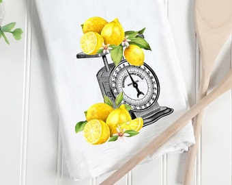 Fruit Themed Kitchen Decor Lemon Hanging Dish Towel Home Cleaning Supplies