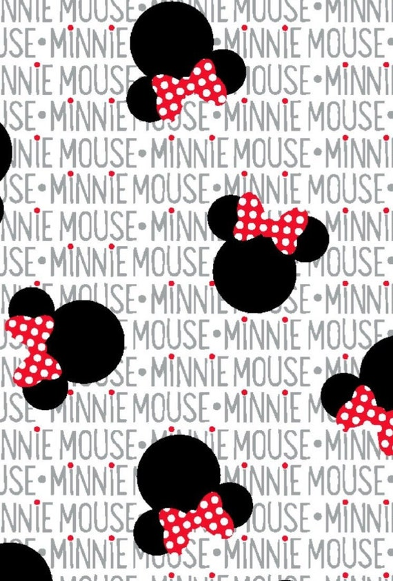 Minnie Mouse And Red And White Polka Dot Bow Valance Etsy