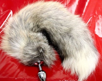 7deb4e05f16 Natural Golden Fox Tail Butt Plug Real Fur Available in 3 Sizes mature