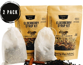 Elderberry Syrup | Each Makes 16oz | Now and Later Package | Organic ingredients