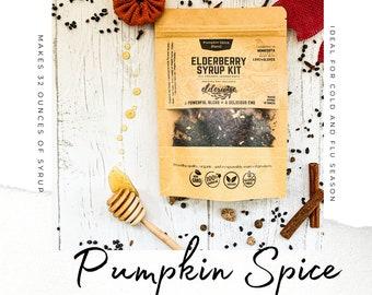 Elderberry Syrup | PUMPKIN SPICE BLEND | Makes 32oz | Brewing Bag Included