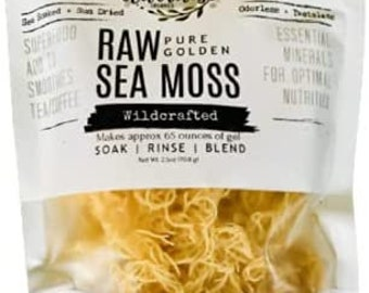 Sea Moss | WILDCRAFTED | Raw + Non GMO | Sundried | SUPERFOOD | Mineral Rich | Makes 64 Ounces of Gel