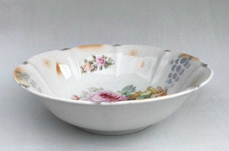 Vintage hand painted Bavarian porcelain bowl BayreuthBavariaMillar