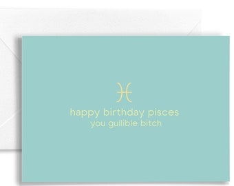 Personalisable Pisces Horoscope Birthday Card