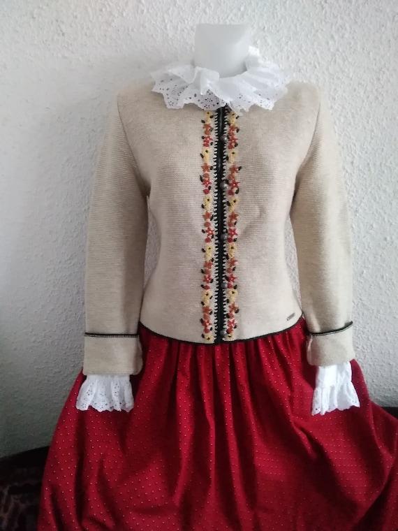 tyrolean austrian embroidered cardigan trachten ok