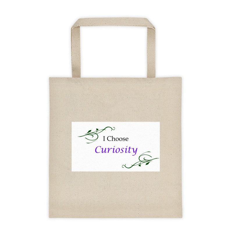 The \u201cI Choose Curiosity\u201c  Reusable Grocery or Tote Bag