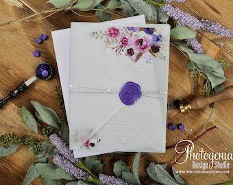 Custom Acrylic Wedding Invitation, Acrylic Invites,Acrylic Invitation, Vellum Wedding Invitation, Wax seal invitation,  Garden Wedding,