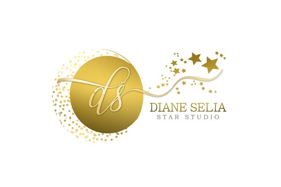 Gold Logo Full Moon Logo Stars Logo Gold Stars White Gold Logo Sparkle Logo Gradient Logo Round Logo Cursive Logo Handwriting
