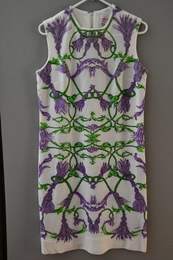 Mr Dino tassel print dress sz 12 (lg)