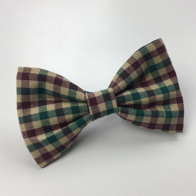 Cat Bow Tie Dog Neckwear Winter Dog BowTie Plaid Dog Bow Tie Christmas Dog Bow Tie Plaid Dog Bow Tie Dog Bow Pet Bow Tie