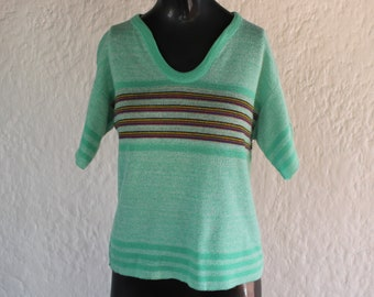Mint striped sweater | Etsy