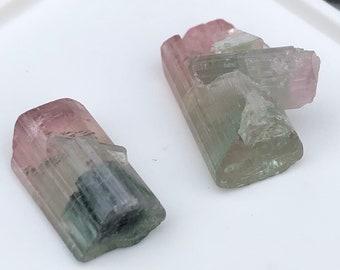 19.35 Carats Natural Bi Colour Loose Rough Rock Gemstone Gems Set