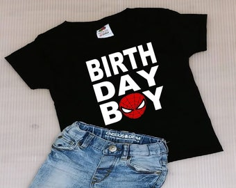 Spider Man Birthday Boy Shirt FREE SHIPPING BoySpider ManSpider Manshirts Spiderman Birthdaypersonalized