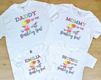 Peppa Pig Family Shirts FREE SHIPPING Birthday Party ShirtsBirthday GirlPeppa