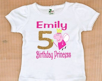 27bb3d0ad Peppa Pig Birthday Girl Shirt, FREE SHIPPING, birthday girl, pink birthday  girl, Peppa Pig birthday, Peppa Pig birthday shirt,pink Birthday