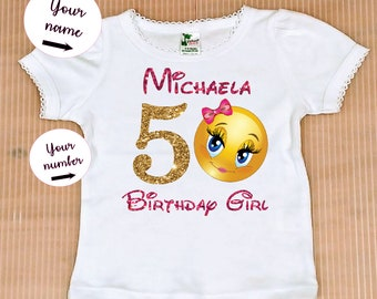 Emoji Birthday Girl Shirt FREE SHIPPING Party Top