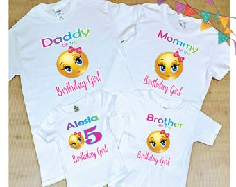 Emoji Family Shirts FREE SHIPPING Birthday Party ShirtsBirthday GirlEmoji