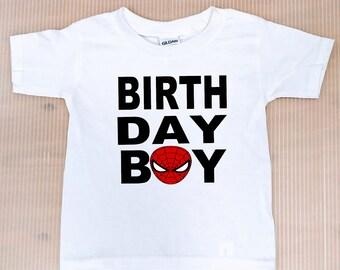 a870e2a18 Spider Man Birthday Boy Shirt, FREE SHIPPING, birthday boy,Spider Man,Spider  Manshirts, Spiderman birthday,personalized birthday shirt