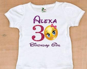 f33e958707 Emoji Birthday Girl Shirt, FREE SHIPPING, Emoji birthday girl, Emoji  birthday party, birthday top, Emoji birthday shirt, birthday party