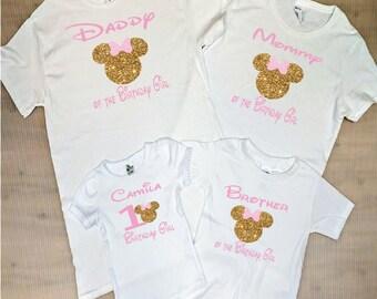 Minnie Mouse Birthday Shirt Family