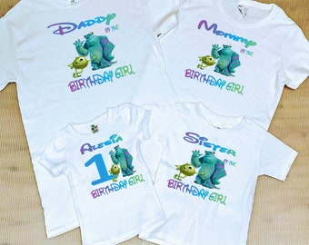 ca7f3e57e Monsters Inc. Birthday Family Shirts, FREE SHIPPING,Monsters Inc birthday  Party, family birthday shirts,Birthday Girl,Monsters Inc.