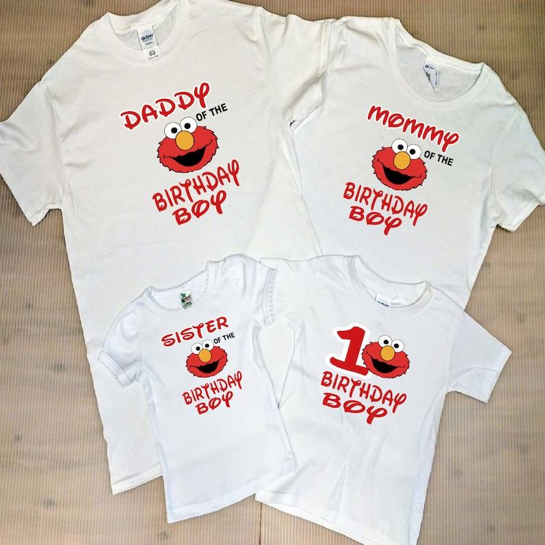 Personalized Sesame Street Style B Birthday T-Shirt