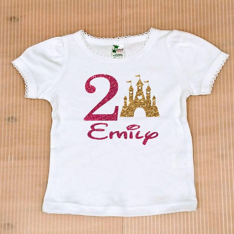 princess birthday party Castle birthday Girl shirt personalized shirt birthday shirt free shipping birthday girl shirt birthday shirt