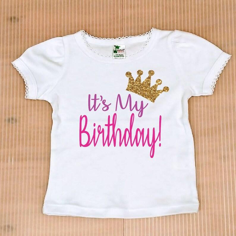 5956e0f6b0 It's My Birthday Shirt, FREE SHIPPING,birthday girl Shirt,birthday party  outfit, birthday top, gold glitter