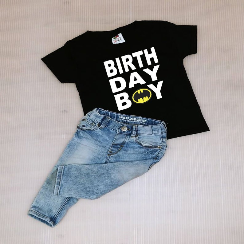Batman Birthday Boy Shirt FREE SHIPPING