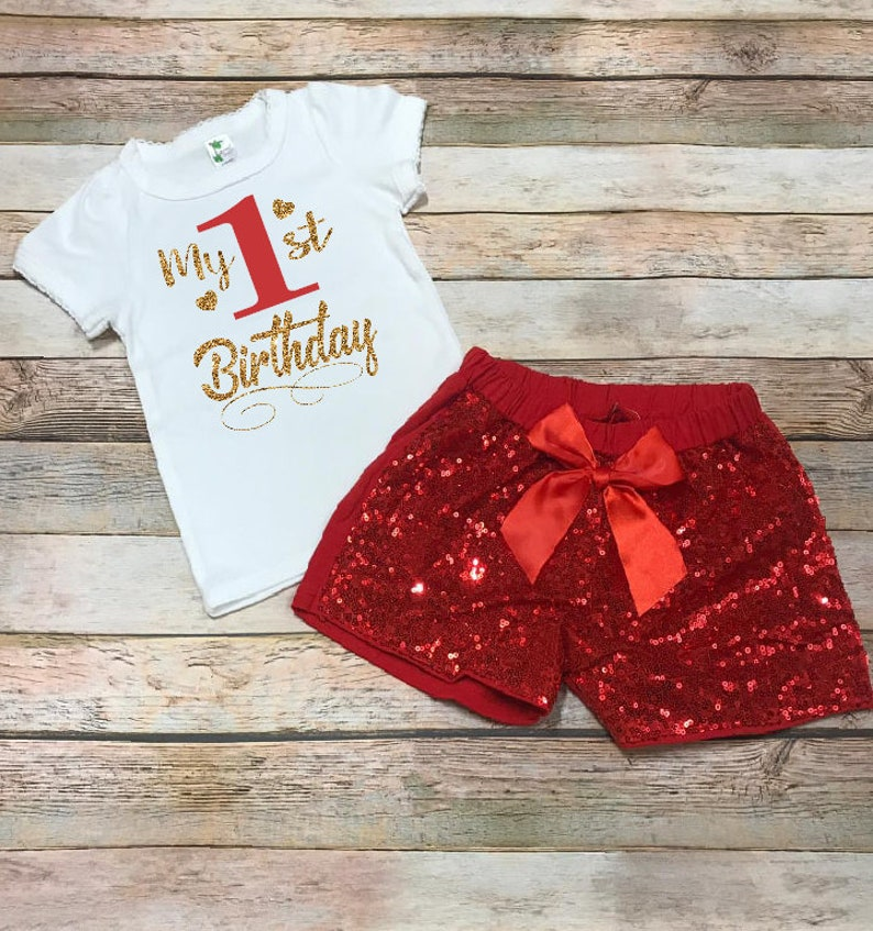 birthday set Birthday sequin short outfit,FREE SHIPPING,Pink  Personalized  birthday birthday tutu outfit,Birthday Girl first birthday