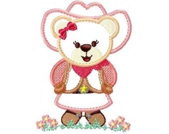 INSTANT DOWNLOAD Chella Crochet Cowgirl Teddy Bear Pony Afghan Crochet Pattern Graph