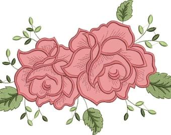 Flower applique etsy