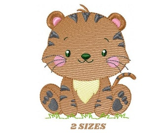 Tiger embroidery design - Animals embroidery designs machine embroidery pattern - Boy baby embroidery file - Tiger design instant download