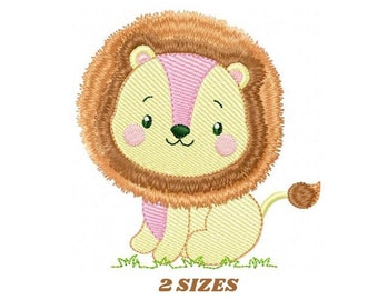 Lion embroidery designs - Safari embroidery design machine embroidery pattern - Baby boy embroidery file - king embroidery instant download