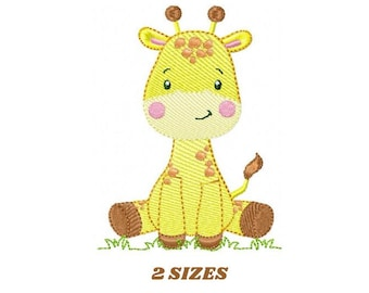 Giraffe embroidery design - Animal embroidery designs machine embroidery pattern - Baby girl embroidery file - Instant download digital file