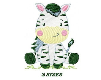 Zebra embroidery designs - Animal embroidery design machine embroidery pattern - Safari embroidery file - instant digital download pes jef