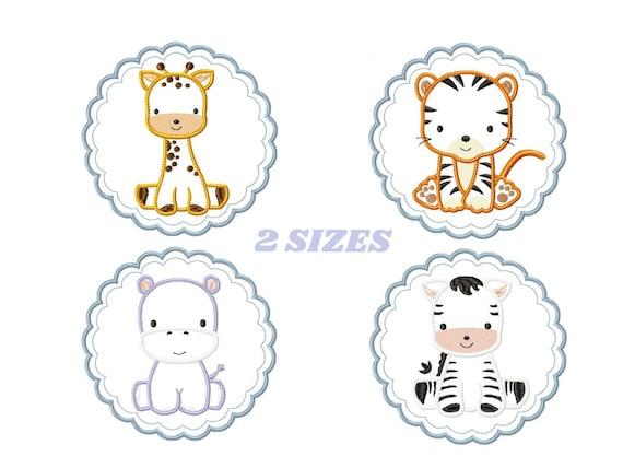 Embroidery Design Giraffe Animal Machine Embroidery Applique Design for girls
