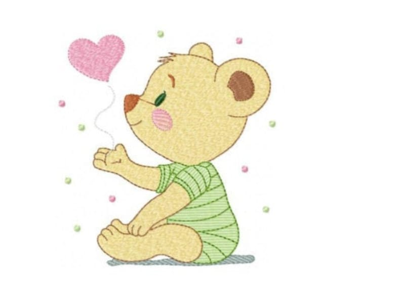 Bear embroidery designs  Teddy embroidery design machine image 0
