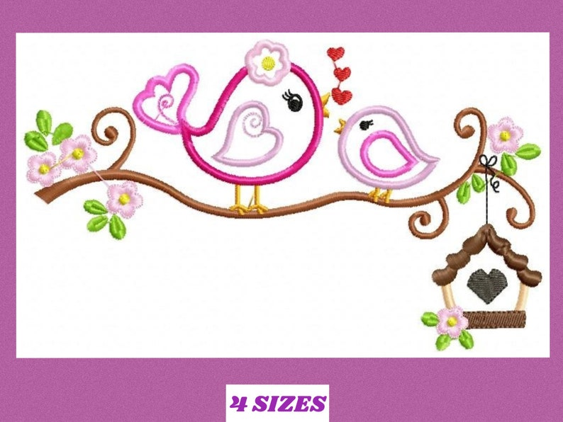 c8997c2682 Bird embroidery designs Bird with Flower embroidery design machine  embroidery pattern instant download applique design girl embroidery
