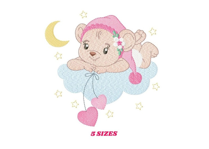 Mouse embroidery designs  Baby girl embroidery design machine image 0