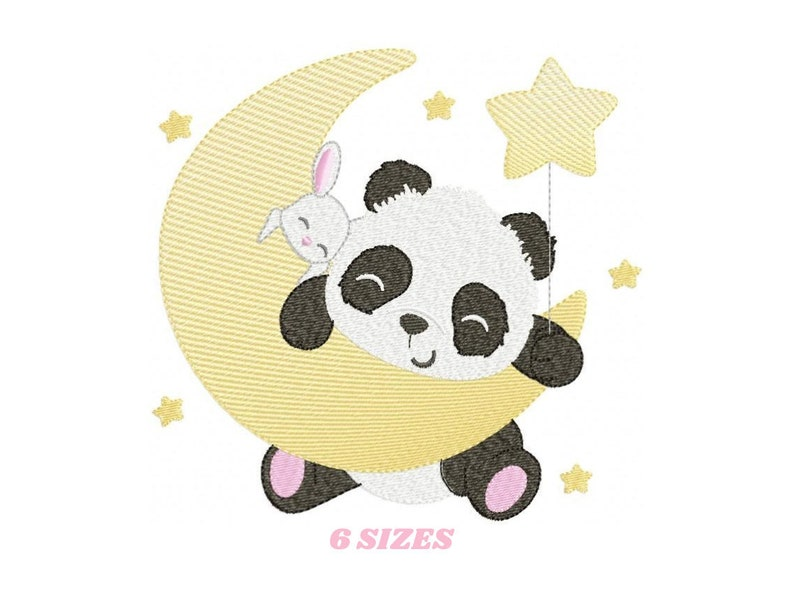 Panda embroidery design  Animal embroidery designs machine image 0