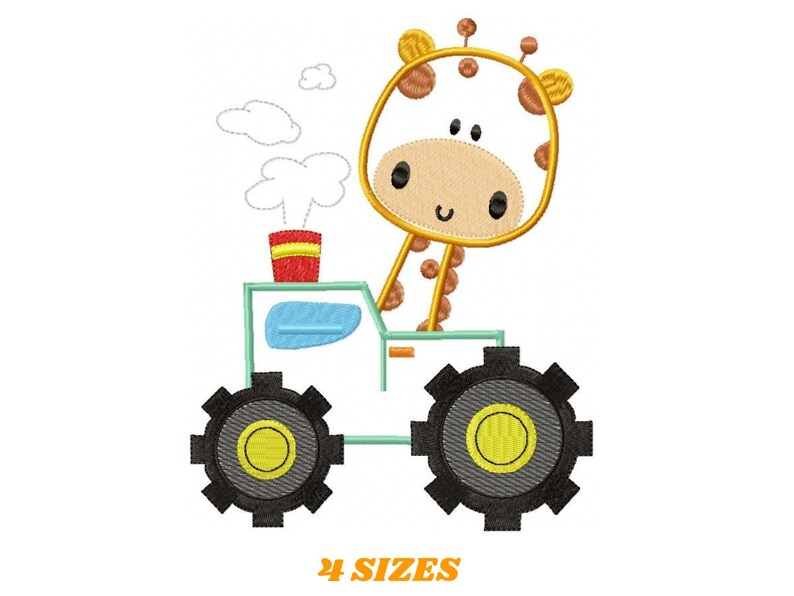 Giraffe embroidery design  Animal embroidery designs machine image 0