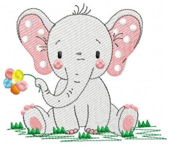 Elephant embroidery designs animal embroidery design machine embroidery  pattern baby embroidery file kid embroidery elephant design