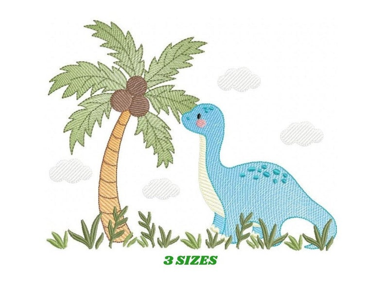 Dinosaur embroidery designs  Dino embroidery design machine image 0