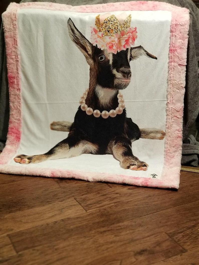 Goat Minky Faux Fur Oversize Baby Blanket