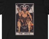 The Devil Tarot Card T-Shirt, Ghost Hunter, Paranormal, Psychic, Witch, Wizard, Warlock, Pamela A
