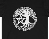 Tree Of Life and Pentacle T-Shirt Pagan Wicca Witch Warlock
