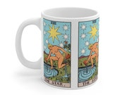 The Star Tarot Card Mug 11oz, Psychic, Witch, Rider Waite Deck