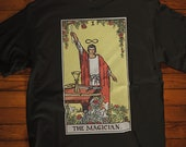 The Magician Tarot Card T-Shirt, Ghost Hunter, Paranormal, Psychic, Witch, Wizard, Warlock, Pamela A